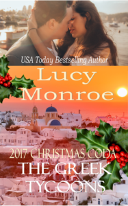 2017 Christmas Coda Book Cover: picture of couple kissing and Santorini